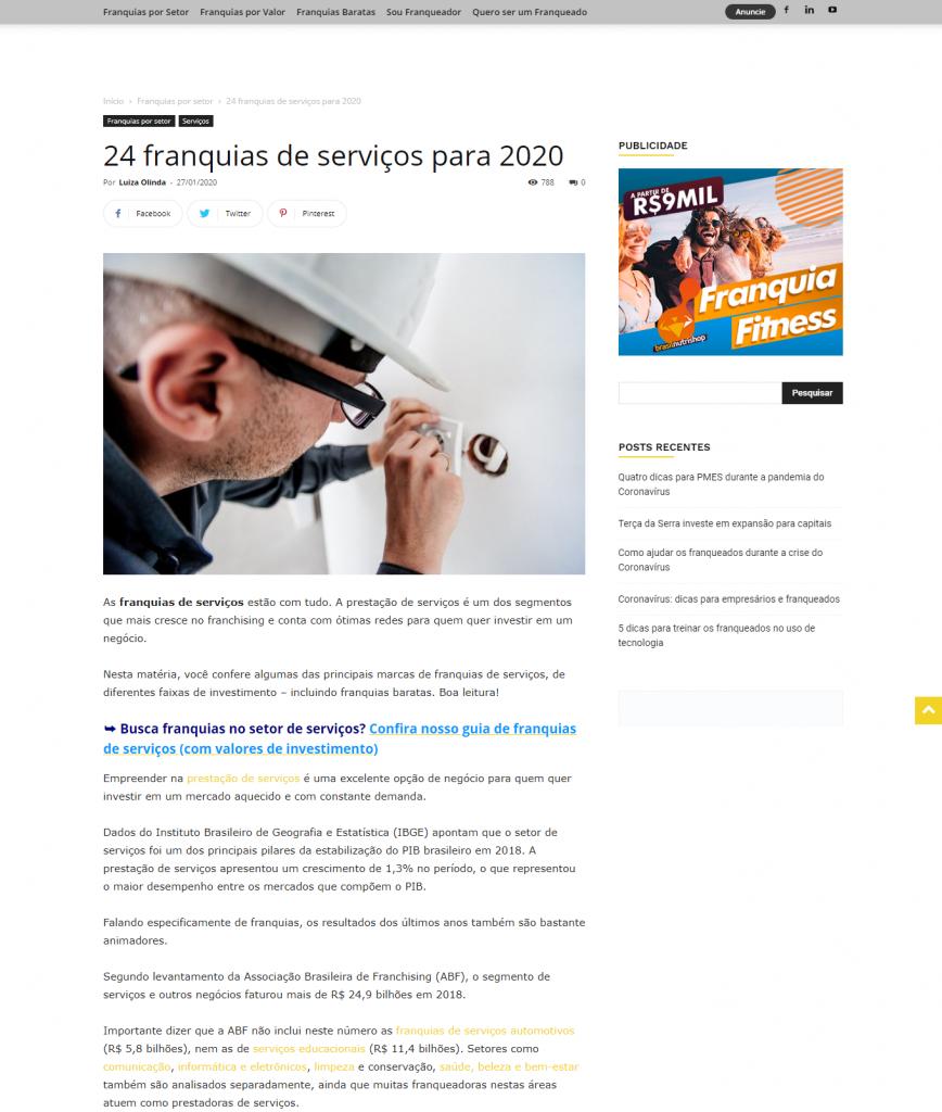CEO da Go2 Franquias falou sobre redes de serviços para 2020